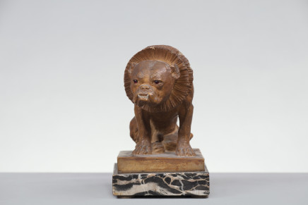 Terracotta figure of a dog, England, 19th Century