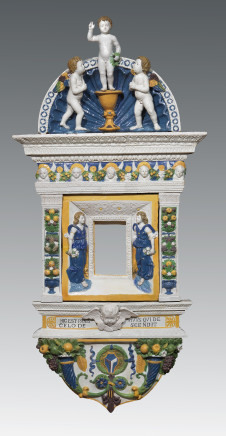 Giovanni della Robbia, Eucharistic Tabernacle with Jesus as a Child blessing, Angels and Cherubs, Florence, ca. 1515-1520