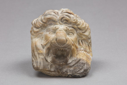 Marble figure of a lion's head, Rome, 1830