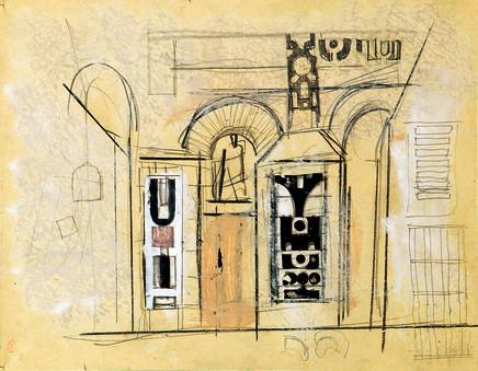 Mario Sironi, Architecture, 1933 circa