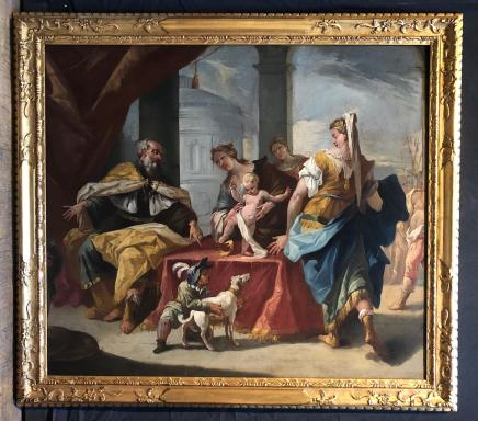Attributed to Gaspare Diziani, Moses trampling the crown of Pharaoh, Early 18th century