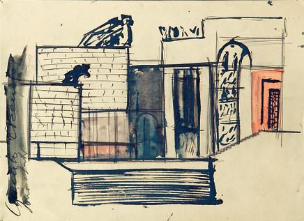 Mario Sironi, Architecture, 1936 circa