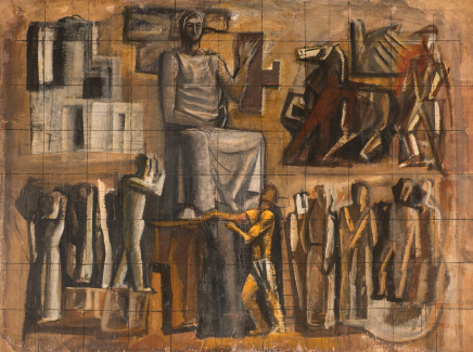 Mario Sironi, Large study for the mosaic 'L'Italia Corporativa', 1936