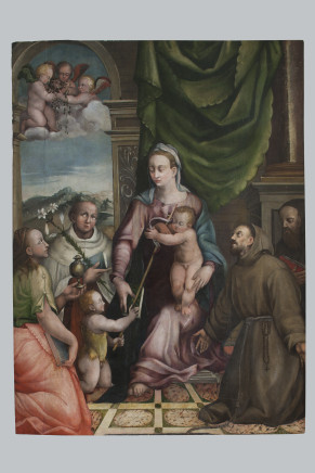 Giovanni Paolo Fonduli, Holy Mary with Child and Saints, First Half of the 16th Century