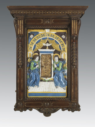 Giovanni della Robbia, Eucharistic tabernacle with adoring angels, Florence, ca. 1525