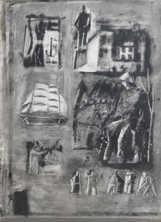 Mario Sironi, Study for mural painting, 1940 circa