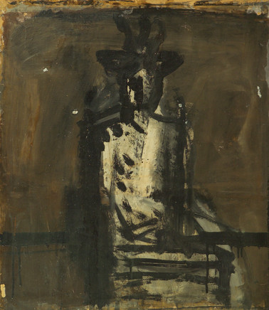 Mario Sironi, Indoor figure with hat, 1936