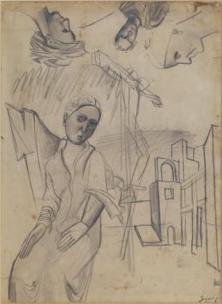Mario Sironi, Figures, 1919 circa
