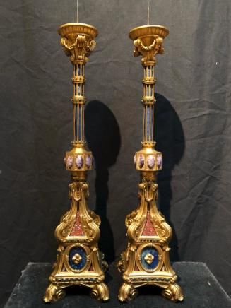 Pair of gilt bronze candelabra, Rome, 19th century