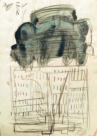 Mario Sironi, Study for a FIAT ad, 1952 circa