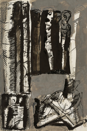 Mario Sironi, Composition with figures, 1957