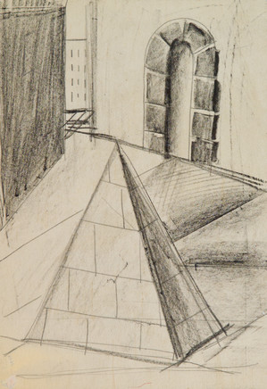 Mario Sironi, Pyramid, architecture and urban landscape, 1927 circa
