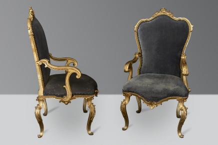 An Exceptional Set of 8 Armchairs, Bologna, 1760 circa