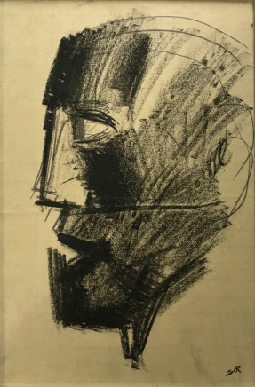 Mario Sironi, Head of a man, 1938 circa