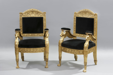 Pair of armchairs, Rome, early 19th century