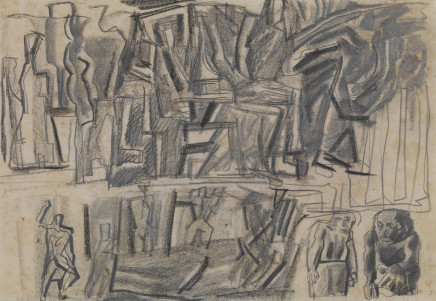 Mario Sironi, Idea for a mural, 1943 circa