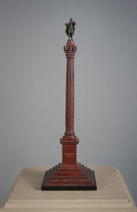 Workshop of Benedetto Boschetti, Red Marble Column, Rome, first half of 19th Century
