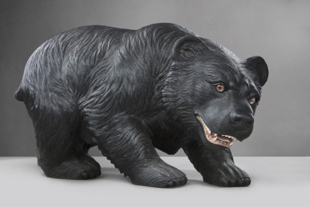Black Marble Figure of a Bear, Russia