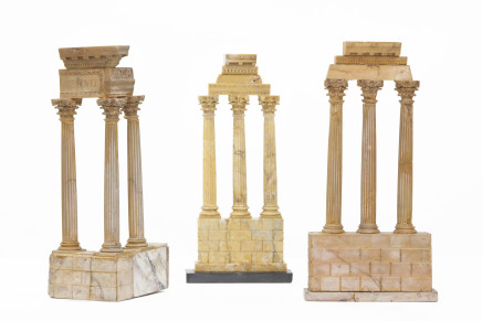 Three Gran Tour models of ruins and columns, Early 19th Century