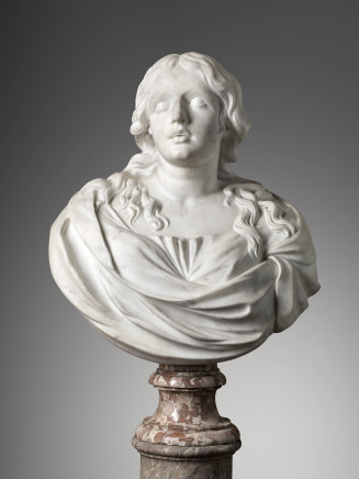 Domenico Guidi, Bust of a Woman, Rome, First Half 17th Century