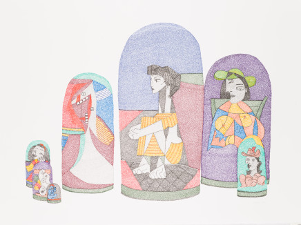 Irene Lees, Picasso Series, Russian Dolls, 2019