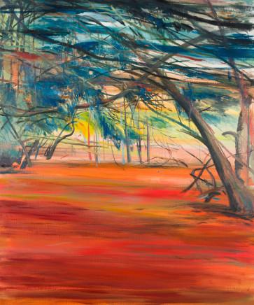 Calum McClure, Yew Trees in Summer, 2019