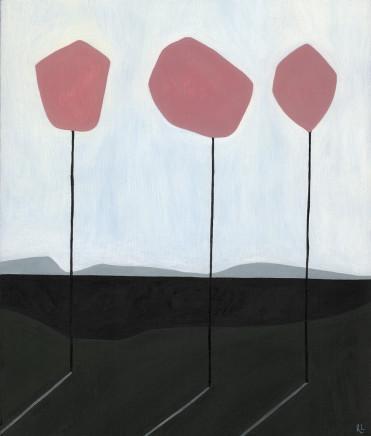 Rob Lyon, Three Trees at the Hill's Apex, 2017