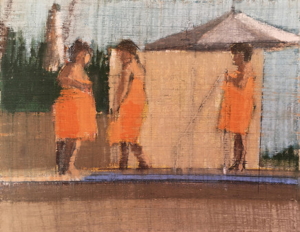 Pippa Blake, Orange Bathers, 2016