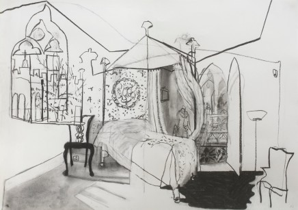 Katie Sollohub, The Blue Bedchamber (At Strawberry Hill House), 2017