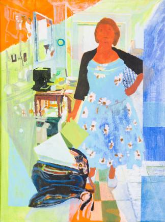 Marilyn Hallam, Kitchen Curtsey I, 2014