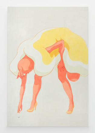 Ivy Haldeman, Standing Figure, Arm Reaches Down, Hand on Thigh, Coin 站立的身影,手臂伸展,手放在大腿上,硬币, 2018