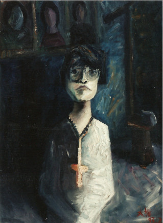 Duan Yingmei 段英梅, Woman Wearing a Cross, 1993