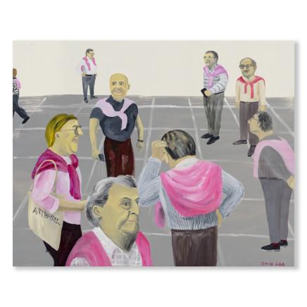 Huang Hai-Hsin 黄海欣, Art Basel (Pink) 巴塞尔艺术展 (粉红), 2019