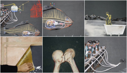 Wang Haiyang 王海洋, Freud, Fish and Butterfly 弗洛伊德,鱼和蝴蝶 , 2009