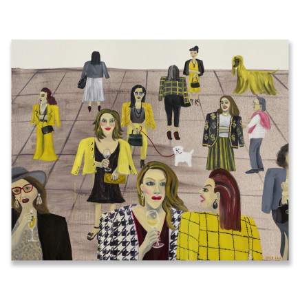 Huang Hai-Hsin 黄海欣, Art Basel (Yellow) 巴塞尔艺术展 (黄), 2019