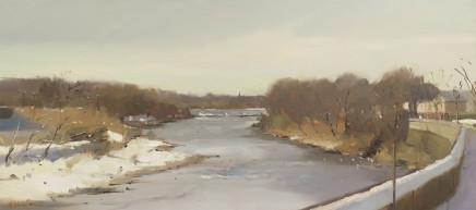 Michael Ashcroft MAFA, March Snow, River Ribble, Preston, Lancashire, 2018