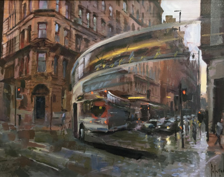Rob Pointon AROI RBSA MAFA, Bus Turning, Whitworth Street