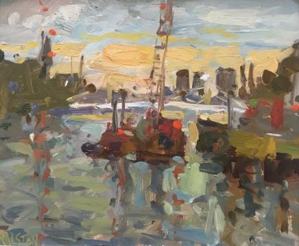 Adam Ralston MAFA, Sunset From Chelsea Bridge II, 2018