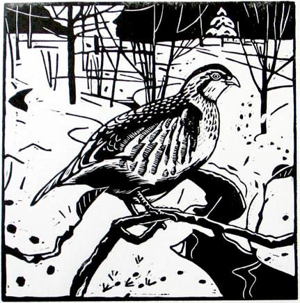 Ann Lewis RCA, Partridge in the Snow