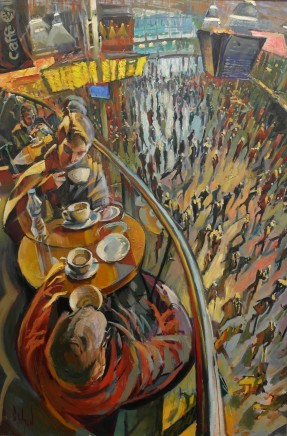 Rob Pointon AROI RBSA MAFA, Coffee Above the Crowd, Manchester Piccadilly