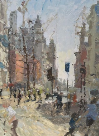Adam Ralston MAFA, St. Peter's Square Looking Down Oxford Rd., 2019