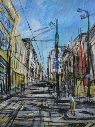 Matthew Thompson, Tramlines in Sun, Manchester Art Gallery