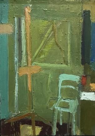 Arthur Neal NEAC, Easel and Chair