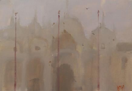 Michael Ashcroft MAFA, Misty Morning, Basillica, Venice