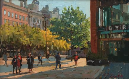 Steven Smith, Byron Burger in Autumn Sun, Piccadilly Gardens, Manchester