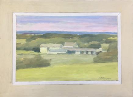 Alan James Thompson, Farm Buildings in Sunlight
