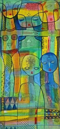 Nike Davies-Okundaye & Tola Wewe, Untitled, 2002