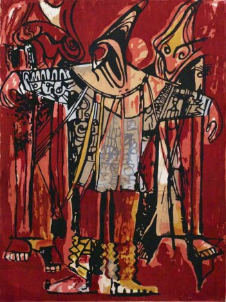 Bruce Onobrakpeya, Dancing Masquerades: A Revisit of the Sunshine Period (1960 - 70)
