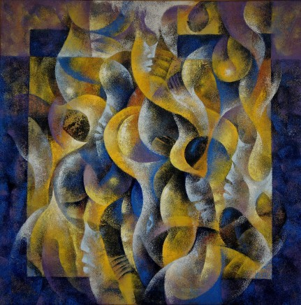 Wiz Kudowor, Soft Forms in Blue and Yellows, 2009
