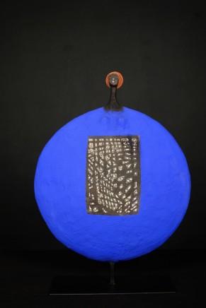 Etiyé Dimma Poulson, Blue and White circle, 2018
